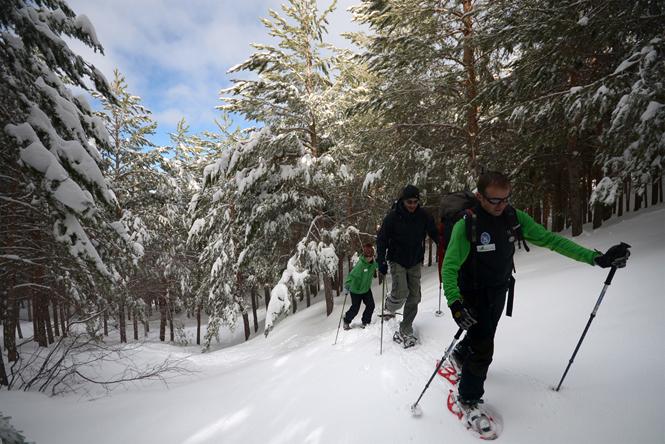 1 Rutas con raquetas de nieve en Sierra Nevada