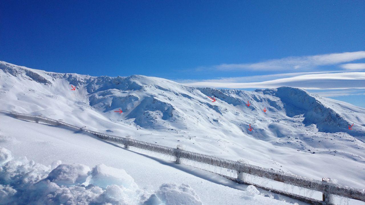 avalanchas en sierra nevada