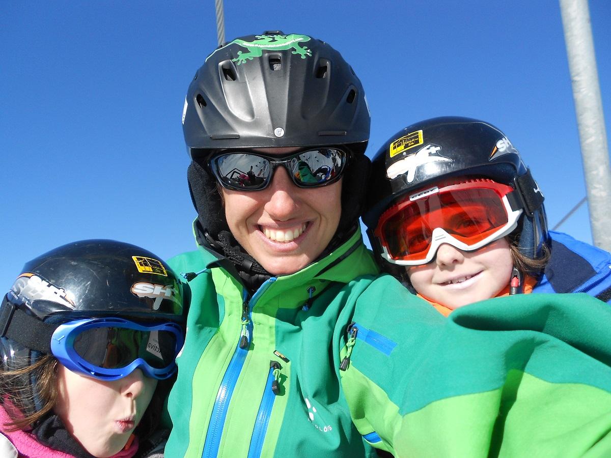 clases de esqui familia