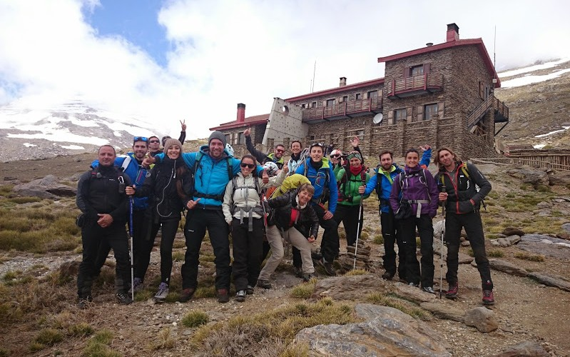 fin de año montañero en Sierra Nevada
