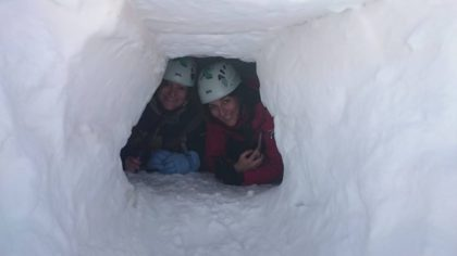 vivac en terreno nevado curso de alpinismo en sierra nevada